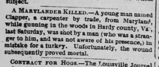 Baltimore Sun, 9/2/1853 - A Marylander Killed.-a Killed.-a Killed.-a...