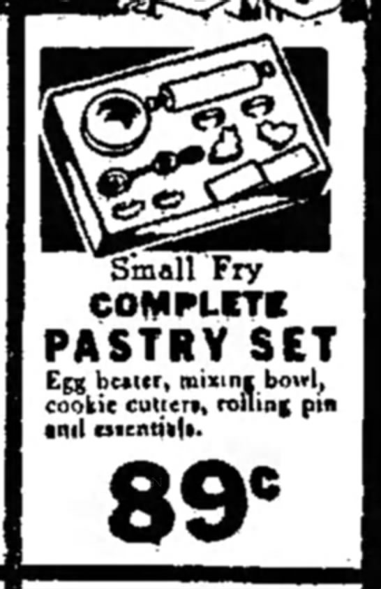 - Small Fry COMPLETE PASTRY SET Egg beater,...