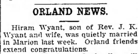 Wyant, Hiram D. 