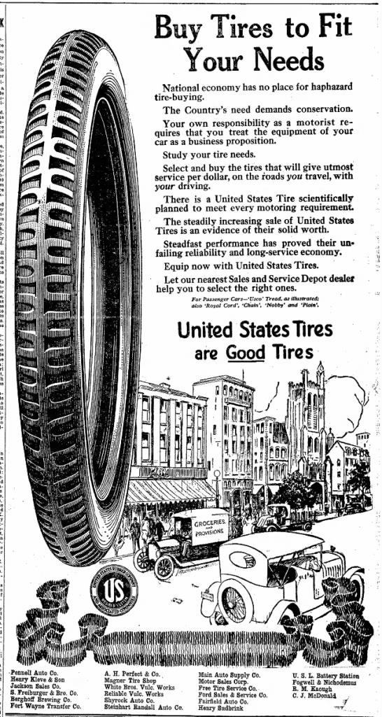 Ad for Magner's TireShop.