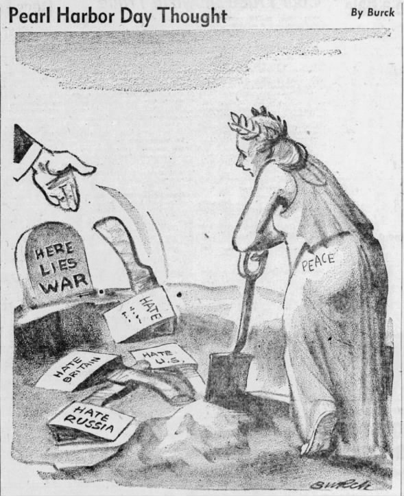 Pearl Harbor Day Thought | Editorial Cartoon 1946