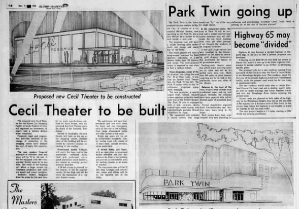 Park twin and new Cecil theatres