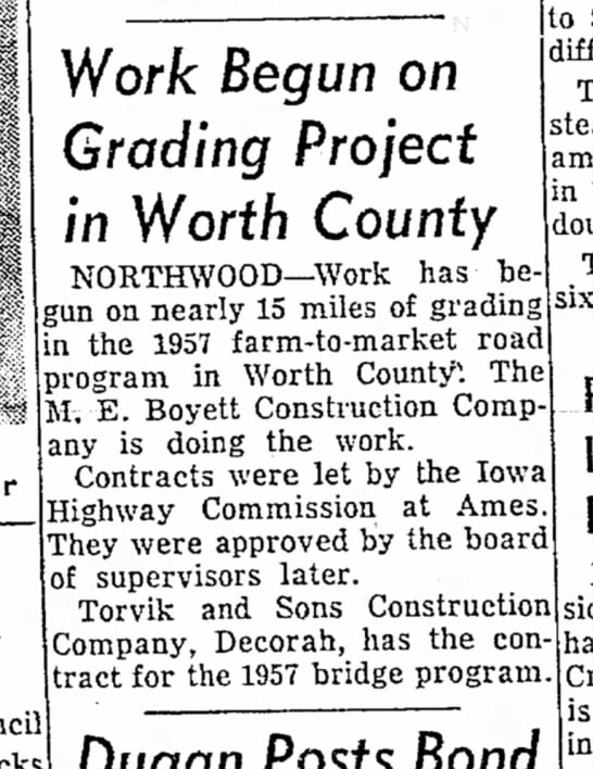 TORVIK - Work Begun on Grading Project in Worth County...