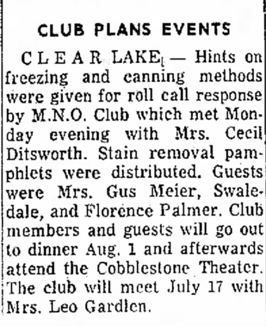 Globe Gazette, Jun 21, 1961, page 17 - Wed- - a certificate. CLUB PLANS EVENTS C L E A...