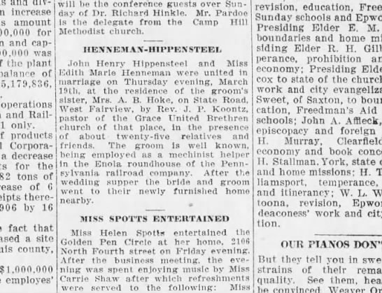 1908 March 21 Harrisburg Telegraph - increase amount for and capital was the plant...