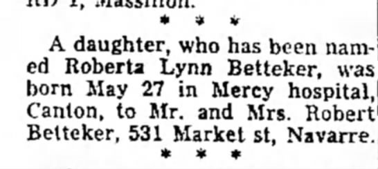 Robbins birth announcement