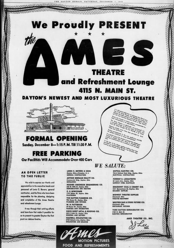 Ames theatre opening