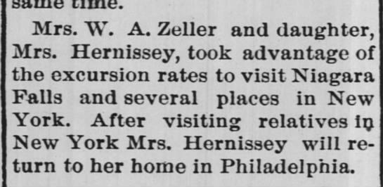 Mrs. W.A. Zeller and daughter