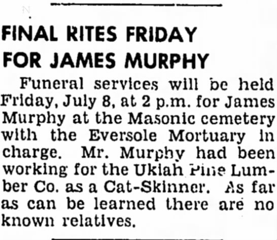 pos jj - FINAL RITES FRIDAY FOR JAMES MURPHY Funeral...