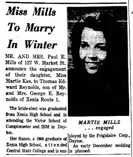 - Miss Mills To Marry In Winter MR. AND MRS. Paul...