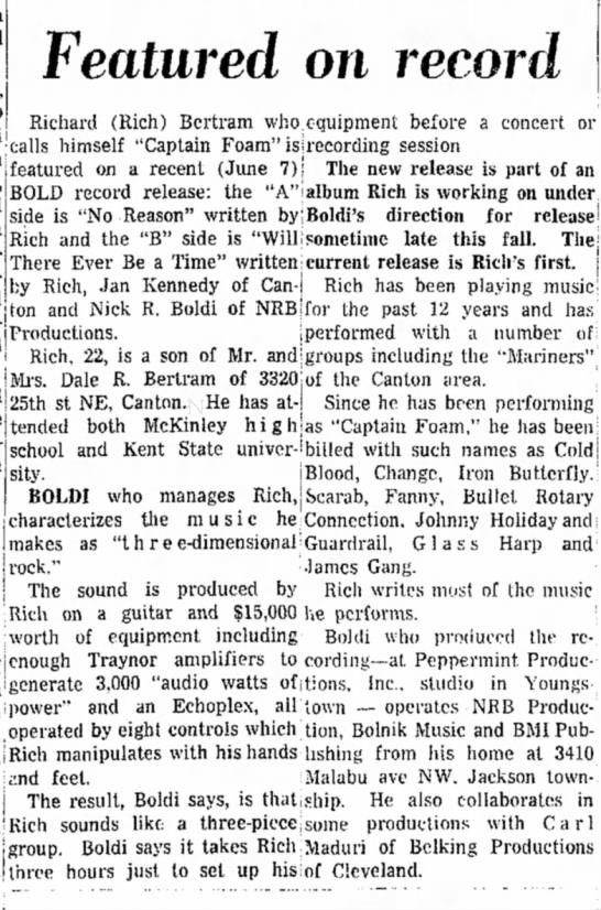 Massillon Independent June 19 1972 DONE - Featured on record Richard (Rich) Bertram who...