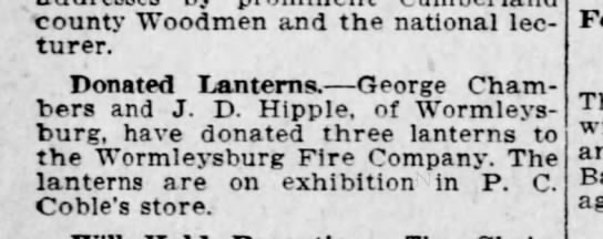 Worm 10-5025 lanterns - county Woodmen and the national lecturer....