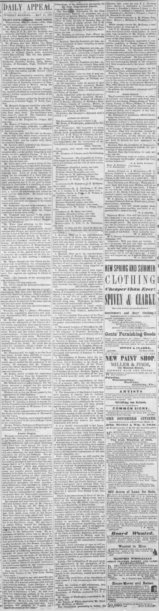 Memphis Daily Appeal Memphis, Tennessee