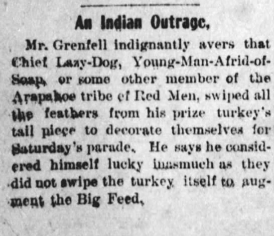Dont rain on his Parade - Ah India Ovtragc, . Mr. Grenfell Indignantly...