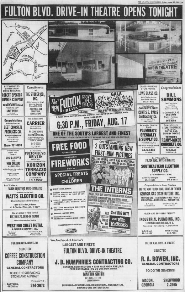 Fulton Blvd. Drive-In opening