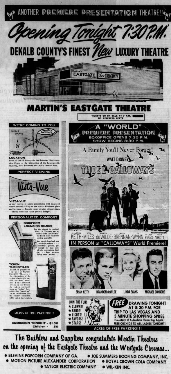 Martin's Eastgate theatre opening