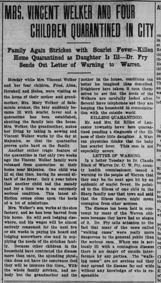 1 feb 1911 welker - BE. IICHIT HELKER II FOIII CIDREII jgllTlliED...