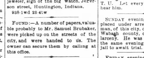 - jeweler, sign of the big watch. Jefferson...