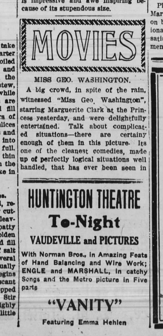 Huntington Theatre Vaudeville with Norman Bros. - take boiled and the stew, while are fill of...