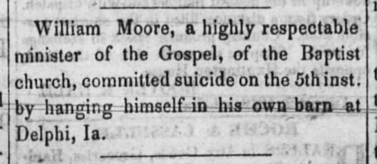 "H. P. Moore's father - ""William"" Moore, a highly respectable minister..."
