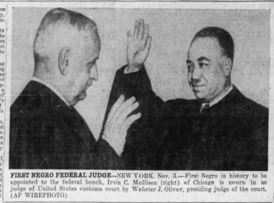 Photo: First African American federal judge, 1945 - , t r,i a of some-( IJ fajjjfl .adflpBsHHaW I...