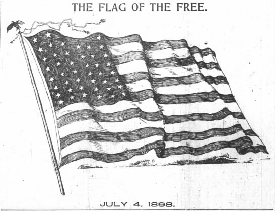 - THE FLAG OF THE FREE. JULY , .! 4. 1SQS,