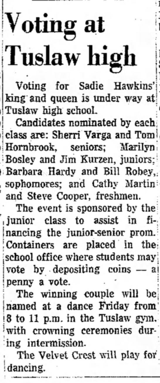 Massillon Evening Independent April 22 1971 DONE - i I | Voting at Tuslaw high Voting for Sadie...