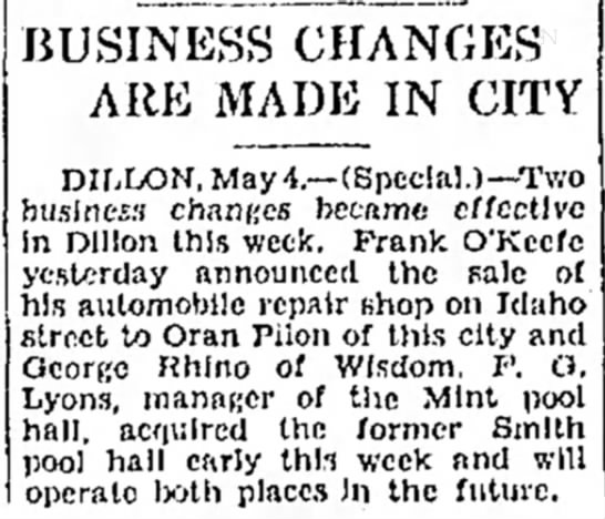 Pilon - Montana Butte Standard