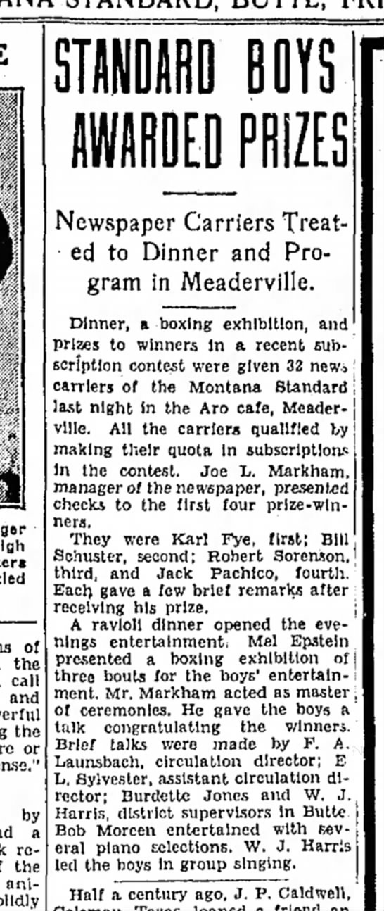 Montana Butte Standard 15 February 1935 - of the call and the or by a region, the animals...
