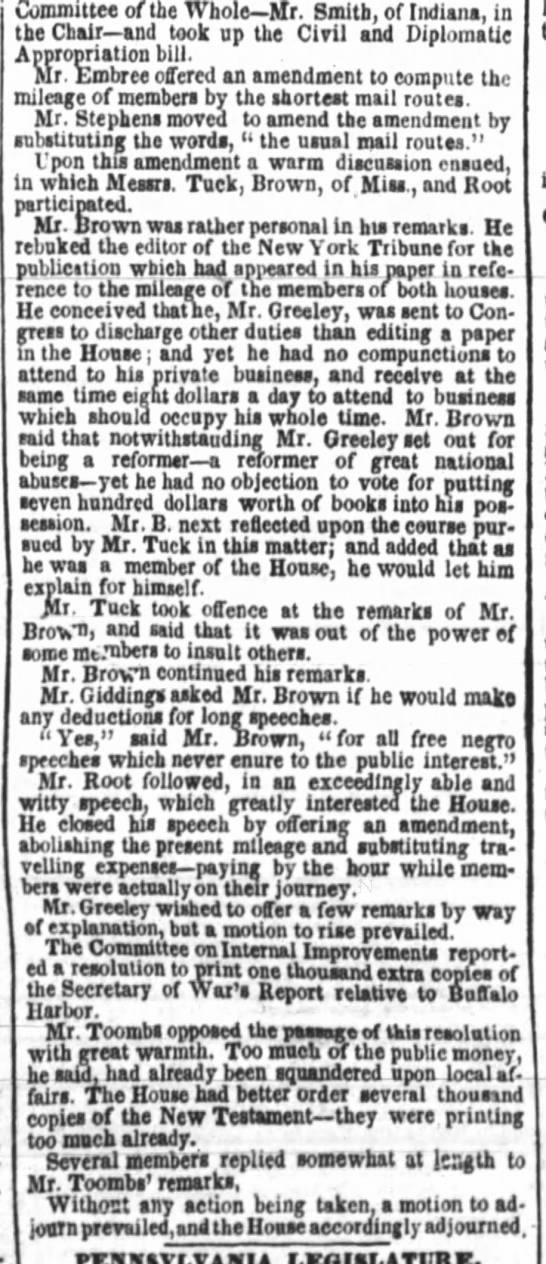 18490110-publicledger - Committee of Ihe Whole Mr. Smith, of Indiana,...