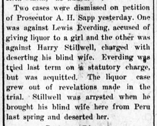 Everding 9 sept 1915 - Two cases were dismissed on petition of...