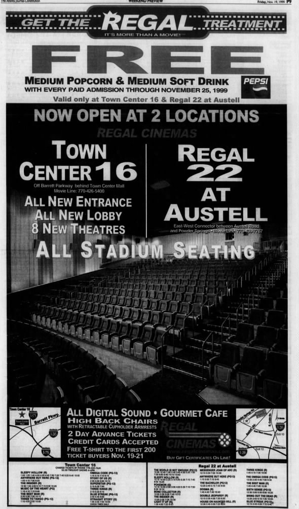 Regal Town Center 22 and Regal 22 openings