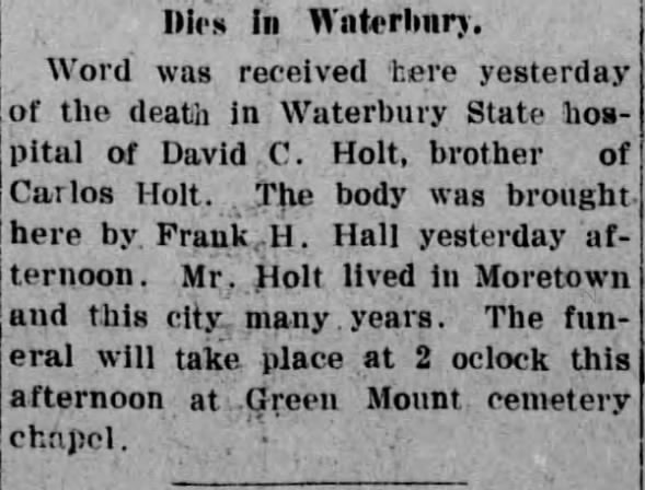 Obituary for David C. Holt