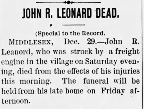 Obituary for JOHN R. LEONARD