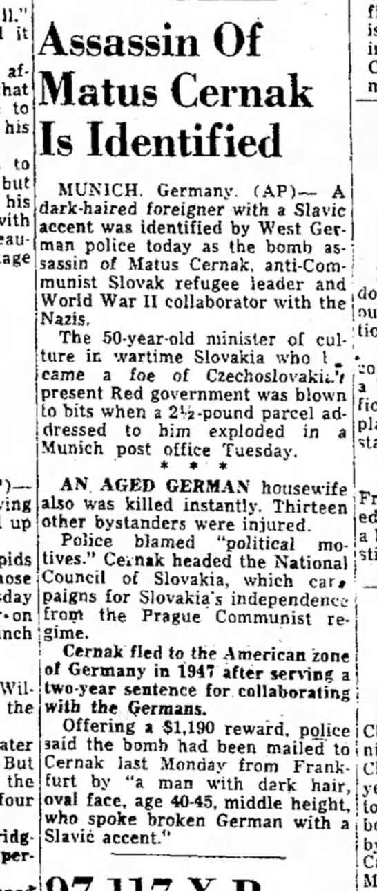 """1955 Matus Cernak - all."""" it affect that to his to but his with..."""