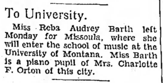 Reba Audrey Barth