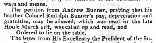 The PA Gazette 14 December 1785 - ways and means. . , The petition from, Andrew...