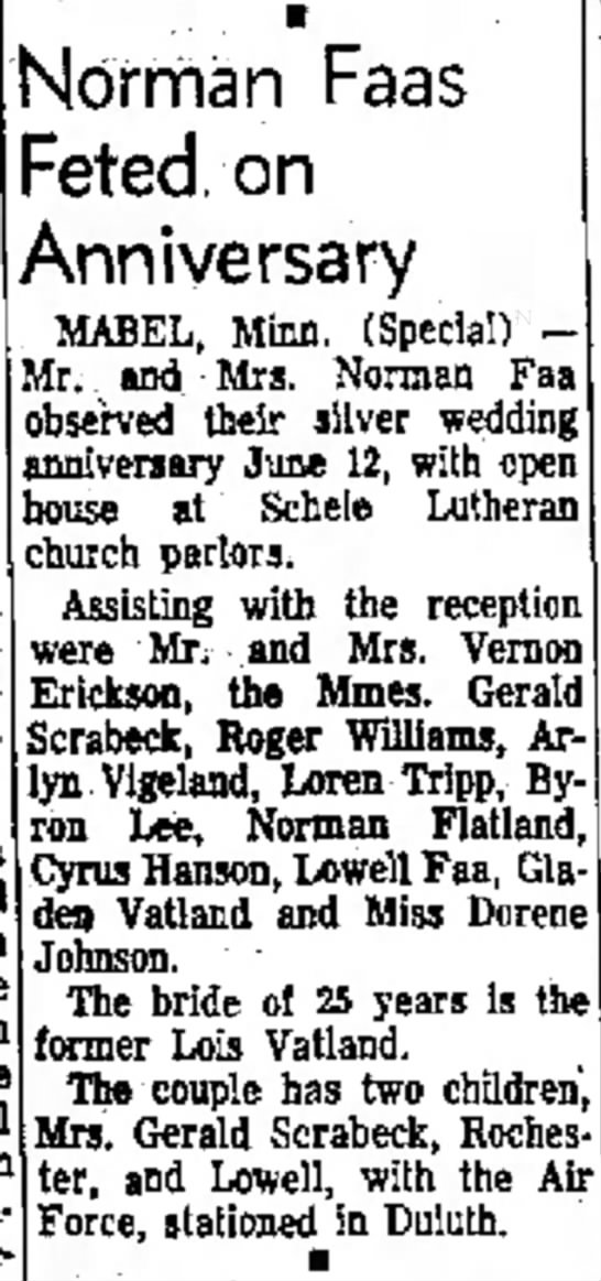 Faa Norman Anniversary - gown The with on Norman Faas Feted Anniversary...