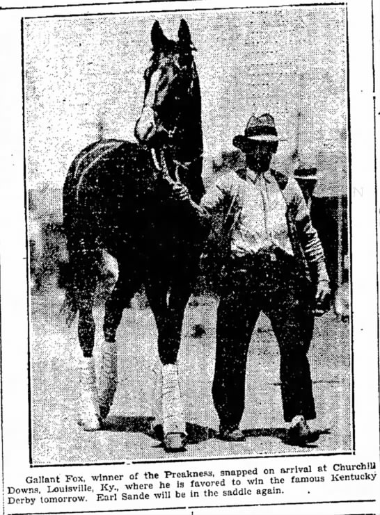 1930 Kentucky Derby Favorite - Ca,,ant IW w.nner of «» —,