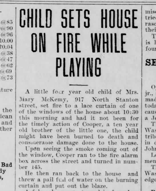 Fire at 917 N. Stanton St.; home of Mary McKemy & family - 00 (« 00 10.00 10.04 38 47 02 (a GO («73 future...
