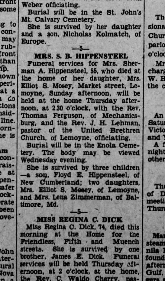 1929 September 3 Hbg Telegraph
