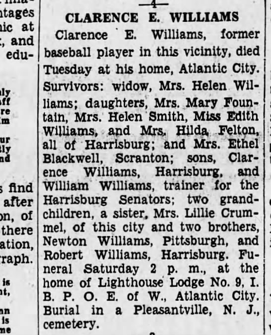 clarence Williams obit1934 - at and educational. - find after of there is is...
