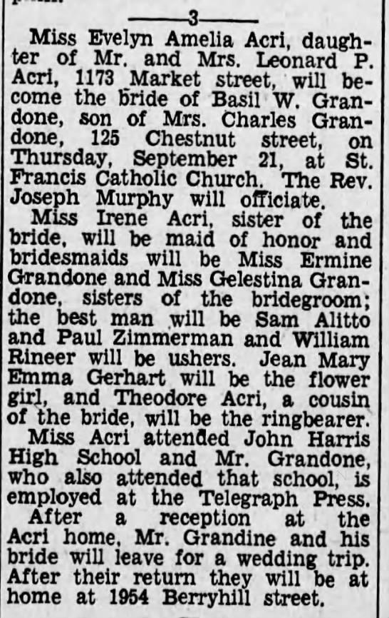 September 13, 1933 Acri Sent to invest