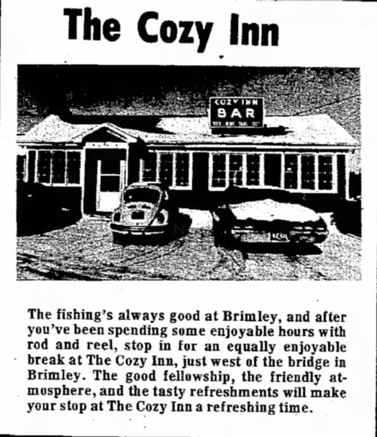 - The Cozy Inn The fishing's always good at...
