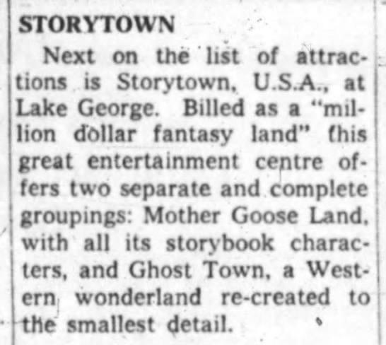 Storytown News - STORYTOWN Next on the ' list of attrac tions is...