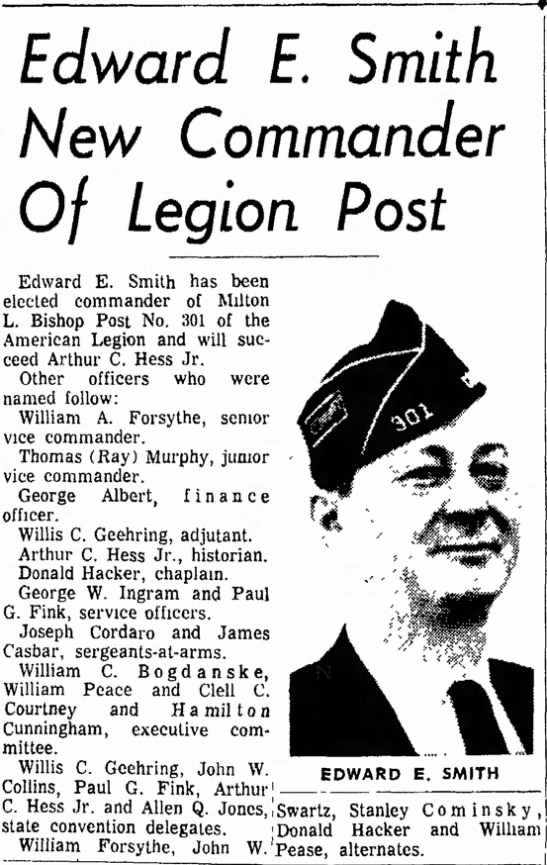 james casbar legion post the daily courier page 1 may 22 1968