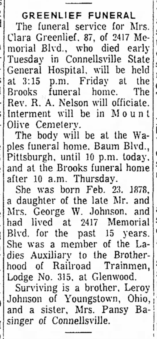 Obit @ Waples Funeral Home - a GREENLIEF FUNERAL The funeral service for...
