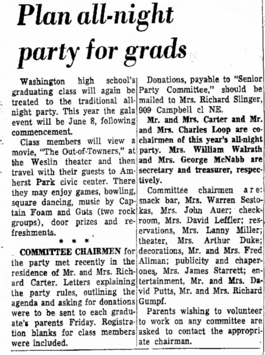 Massillon Evening Independent May 20 1972 DONE - Plan all-night party for grads Washington high...