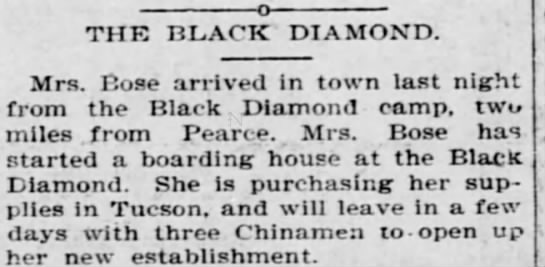 Lizzie 4 - THE BLACK DIAMOND. Mrs. Rose arrived in town...