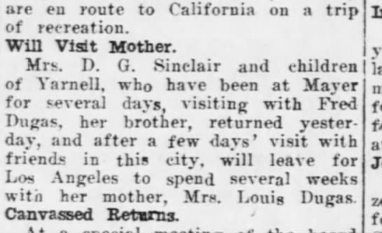 Elizabeth to visit Mother in LA